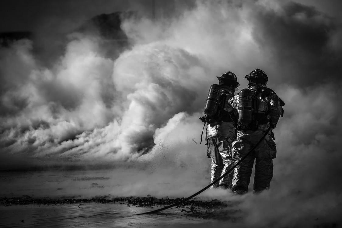 firesorb polymer fire firefighters steel foundry